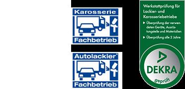 Logos DEKRA, Eurogarant, Karosserie- und Autolackier Fachbetrieb