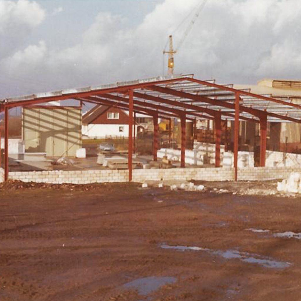 Der Rohbau des Gebäudes der Kammer GmbH in Bochum.